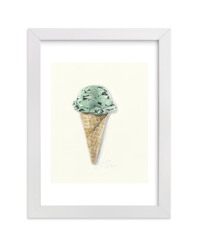 """""""Mint Chip Cone"""" - Art Print by Jackie Graham in beautiful frame options and a variety of sizes."""