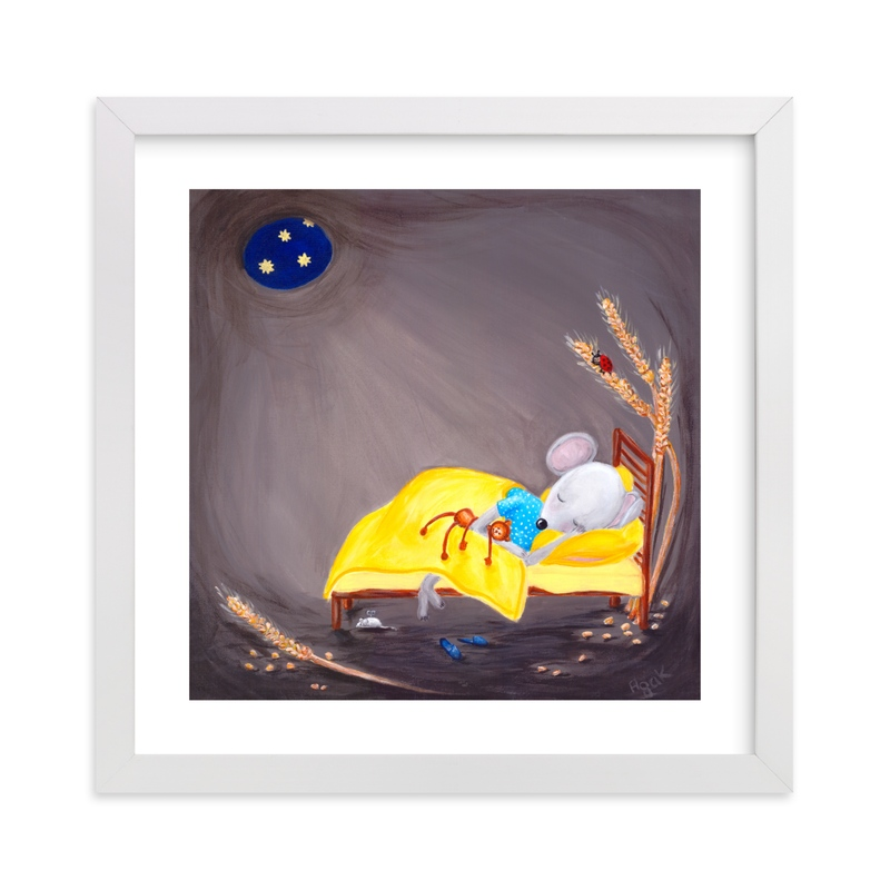 """""""Sweet Dreams Little One"""" - Art Print by Aga in beautiful frame options and a variety of sizes."""