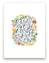 Painted Floral Alphabet by Ariel Rutland