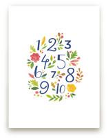 Painted Floral Numbers by Ariel Rutland
