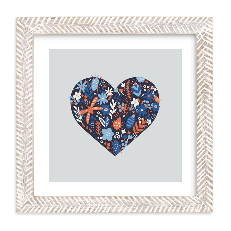 """""""Love Bug"""" - Art Print by Pace Creative Design Studio in beautiful frame options and a variety of sizes."""