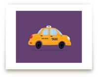 Cute Taxi Cab by Nathan Poland