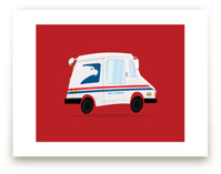 Cute Mail Truck by Nathan Poland