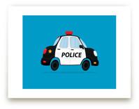 Cute Police Car by Nathan Poland