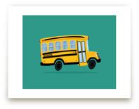 Cute School Bus by Nathan Poland