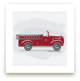 Fire Truck Grey -1 by Rebecca Marchese