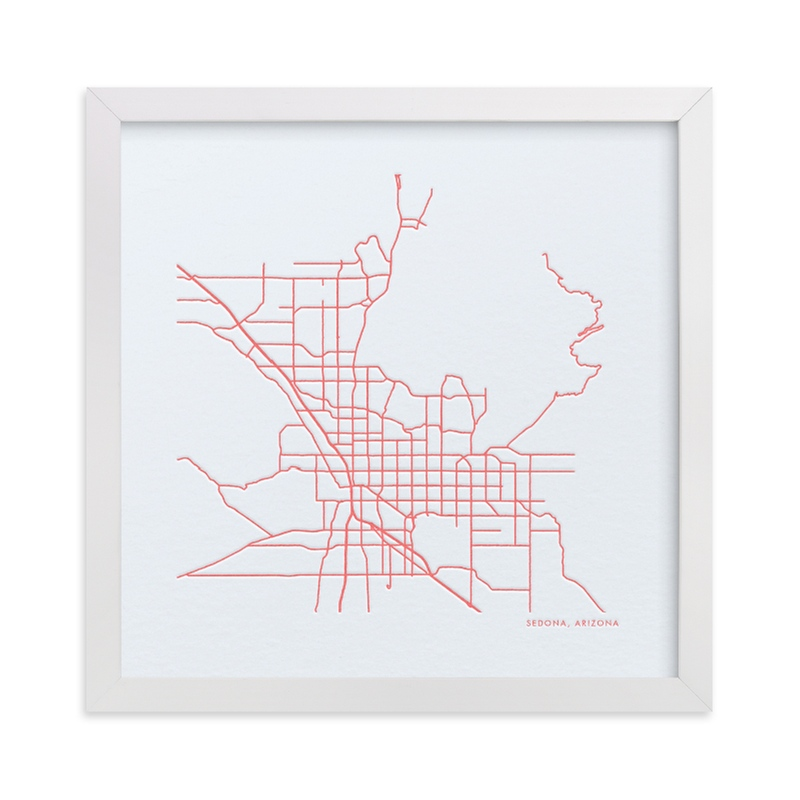 """Custom Map Letterpress Art"" - Map Letterpress Art by Minted in beautiful frame options and a variety of sizes."