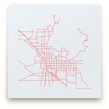 Custom Map Letterpress Art