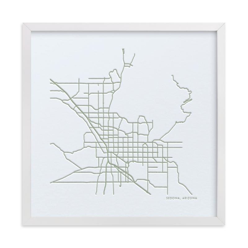 Custom Map Letterpress Art by Minted