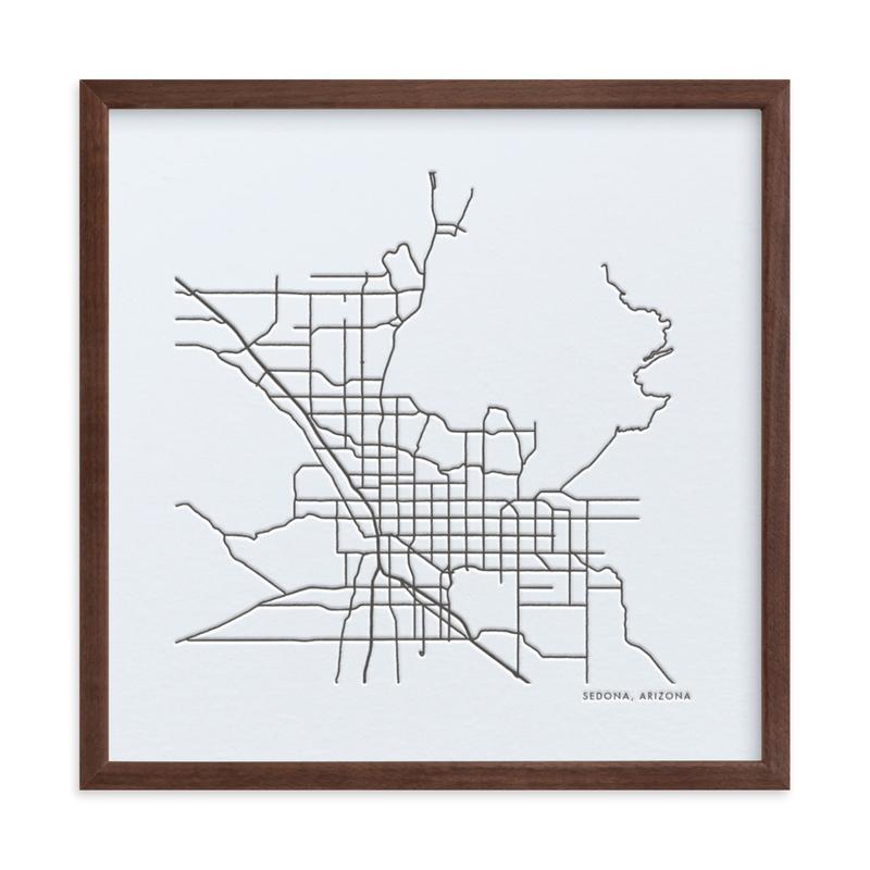 Custom Map Letterpress Art Custom Map Letterpress Art