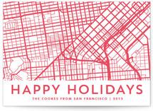 Happy Holidays Custom Letterpress Map