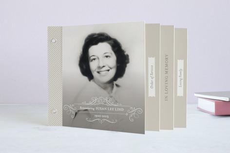Flourish & Stripe Memorial Minibook Cards