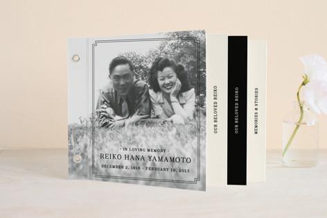 Classic Frame Memorial Minibook Cards
