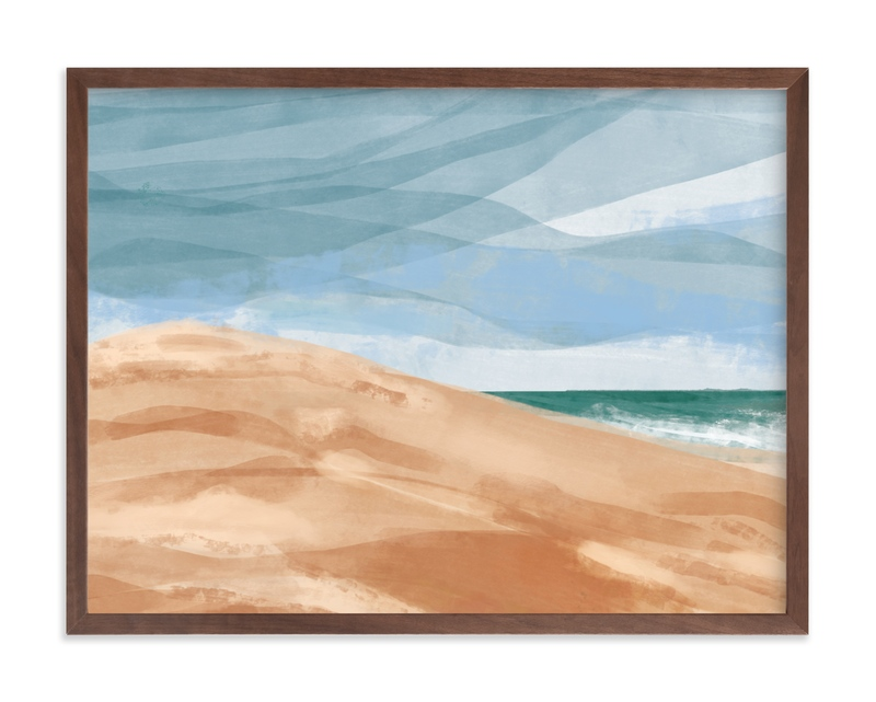 """""""Dunes by the ocean"""" by Inkblot Design in beautiful frame options and a variety of sizes."""