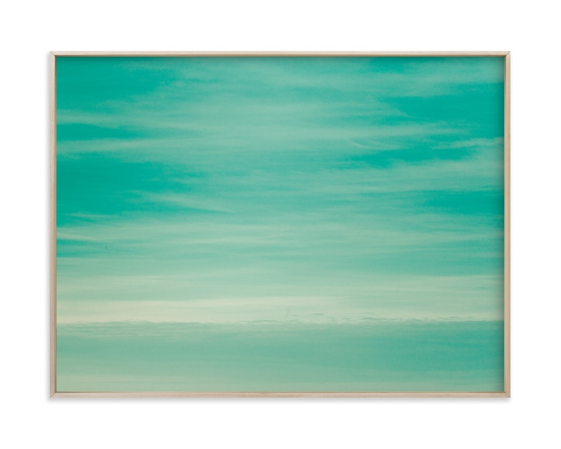"""""""Mint sky"""" by Lying on the grass in beautiful frame options and a variety of sizes."""