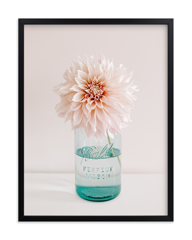 """""""Dinner Plate Dahlia"""" by Joelle Segal in beautiful frame options and a variety of sizes."""