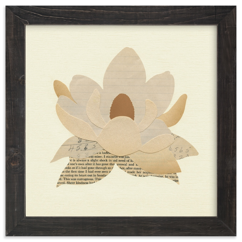 """""""Paper Magnolia"""" by Field and Sky in beautiful frame options and a variety of sizes."""