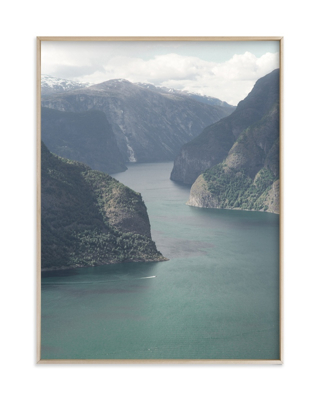 """""""Fjord Rides"""" by Van Tsao in beautiful frame options and a variety of sizes."""