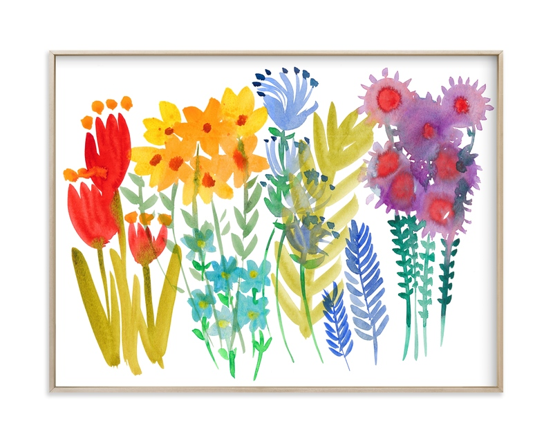 """""""Summer Wild Flowers """" by Kim Johnson in beautiful frame options and a variety of sizes."""