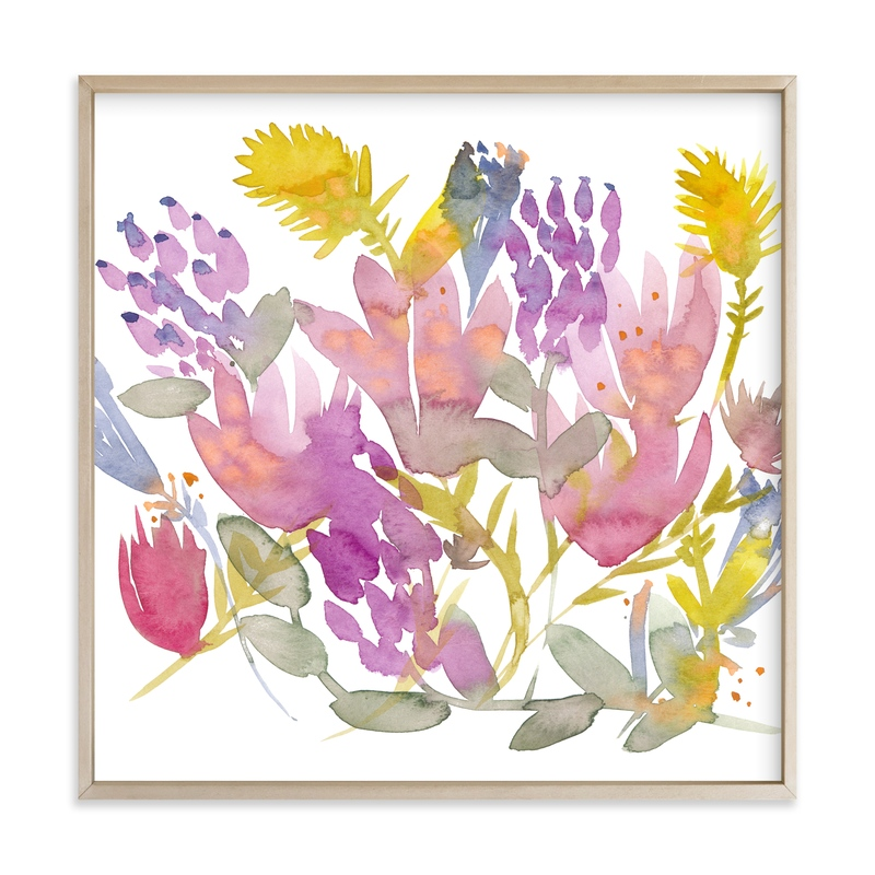 """""""Summer Bouquet of Flowers"""" by Kim Johnson in beautiful frame options and a variety of sizes."""