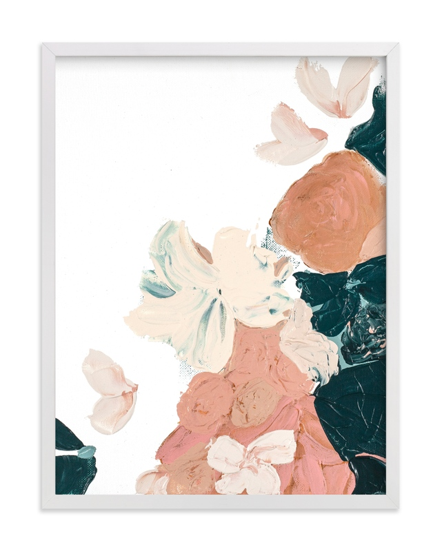 """Peach Abstract Botanical"" by Caryn Owen in beautiful frame options and a variety of sizes."