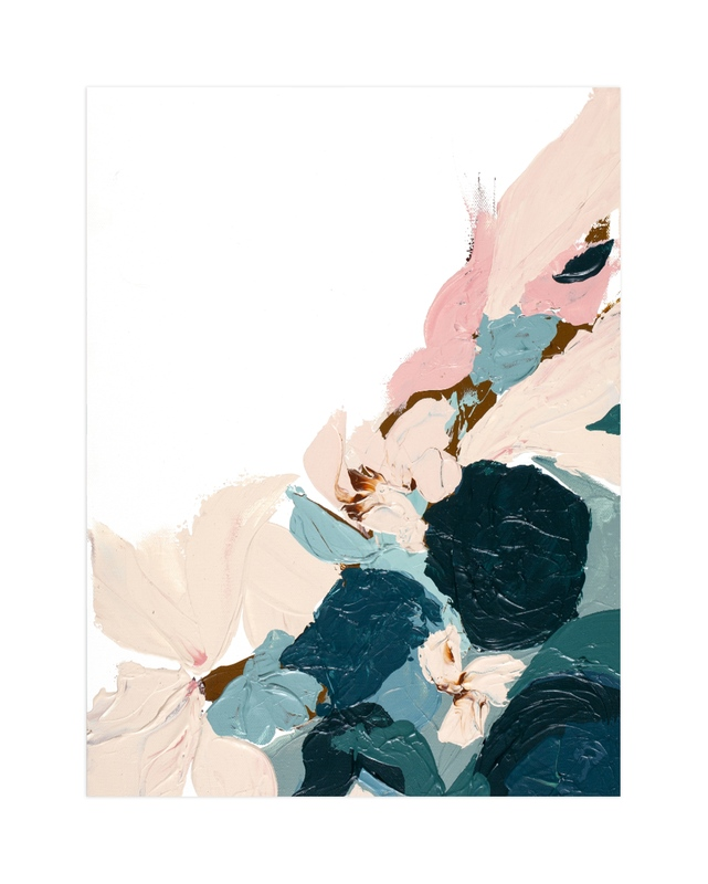 """""""Abstract Botanical Winter"""" by Caryn Owen in beautiful frame options and a variety of sizes."""