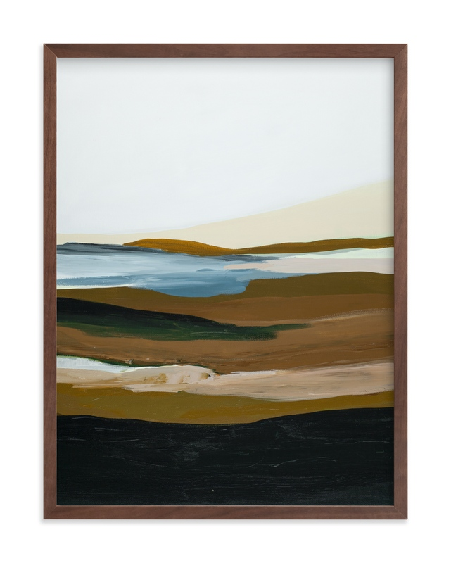 """""""Brown Seascape"""" by Caryn Owen in beautiful frame options and a variety of sizes."""