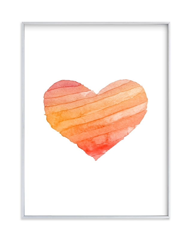 """""""Heart Stripes Gradient"""" by Belia Simm in beautiful frame options and a variety of sizes."""