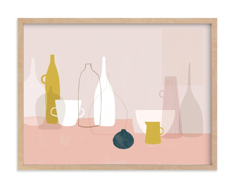 """""""Yellow & Pink Still Life"""" by Francesca Iannaccone in beautiful frame options and a variety of sizes."""
