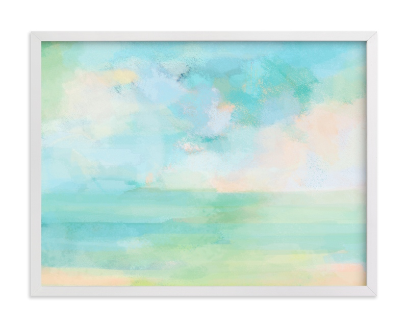 """""""Aqua Days"""" by Alison Jerry Designs in beautiful frame options and a variety of sizes."""