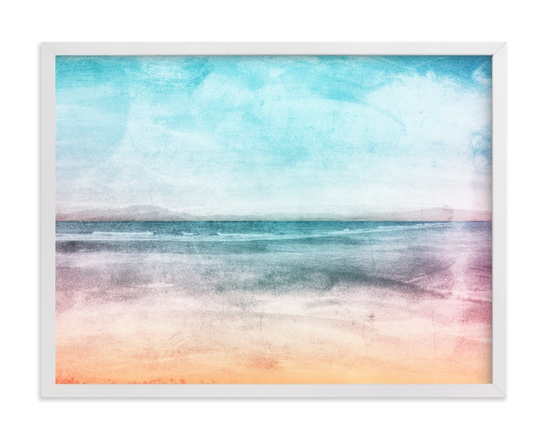 """Vintage Coast"" by Field and Sky in beautiful frame options and a variety of sizes."