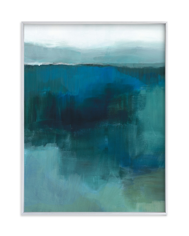 """""""Blue Marshland"""" by Alison Jerry Designs in beautiful frame options and a variety of sizes."""