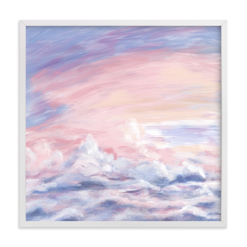 """Dreamy Clouds Squared"" by Janelle Wourms in beautiful frame options and a variety of sizes."
