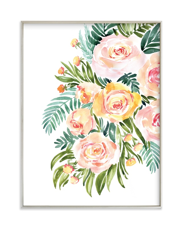 """""""Abigail watercolor bouquet"""" by Rosana Laiz Blursbyai in beautiful frame options and a variety of sizes."""