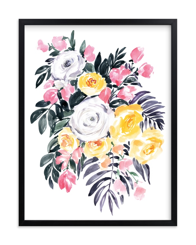 """""""Harriet watercolor bouquet"""" by Rosana Laiz Blursbyai in beautiful frame options and a variety of sizes."""