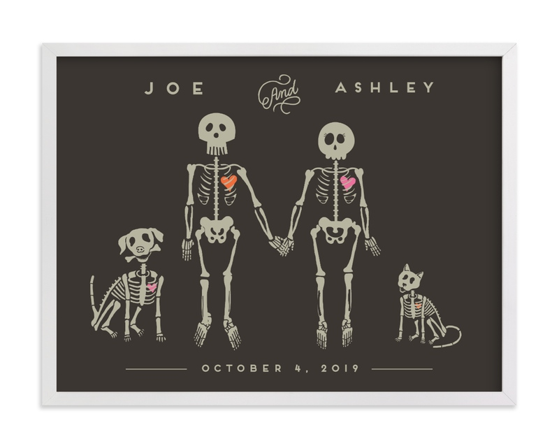 """""""Ashley Skeletons"""" by Katie Zimpel in beautiful frame options and a variety of sizes."""