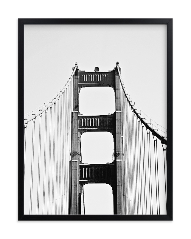 """""""The Golden Gate Bridge"""" by Joelle Segal in beautiful frame options and a variety of sizes."""