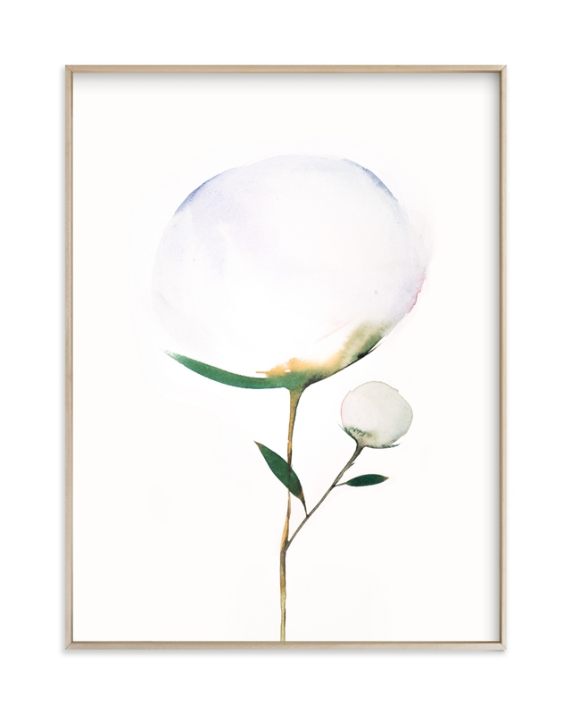"""Blooming Peony 01"" by jinseikou in beautiful frame options and a variety of sizes."