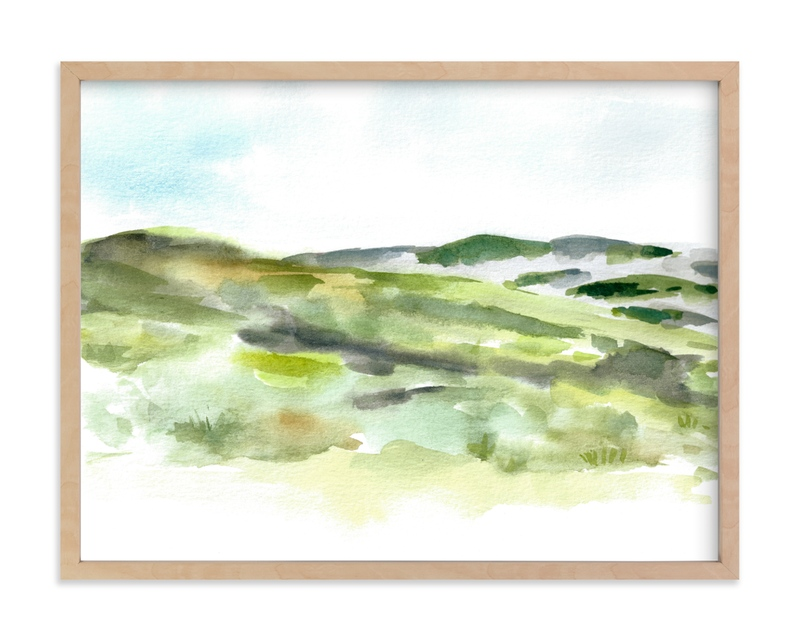 """""""The Bluffs"""" by Jenny Partrite in beautiful frame options and a variety of sizes."""