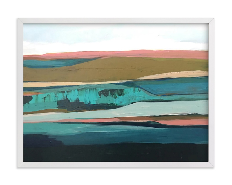 """""""Pink California Seascape"""" by Caryn Owen in beautiful frame options and a variety of sizes."""