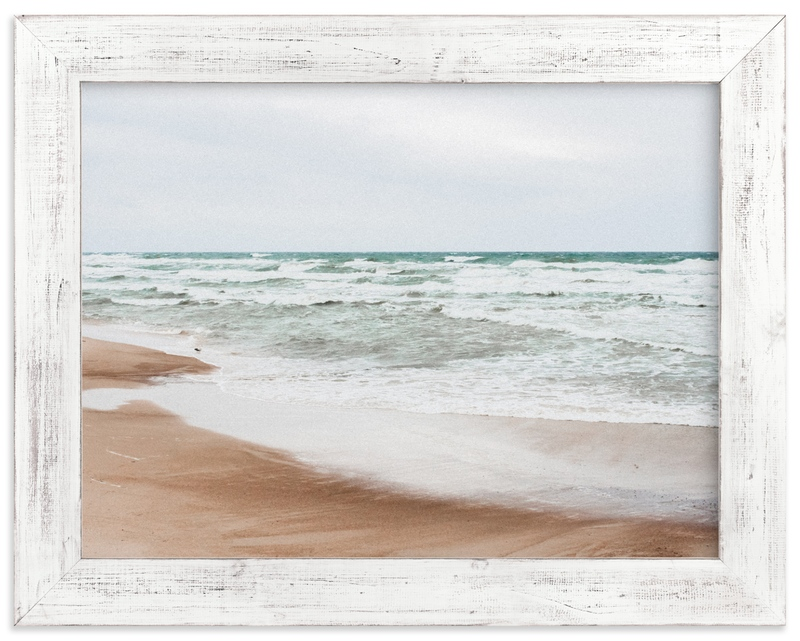 """""""White waves and bird II"""" by Lying on the grass in beautiful frame options and a variety of sizes."""