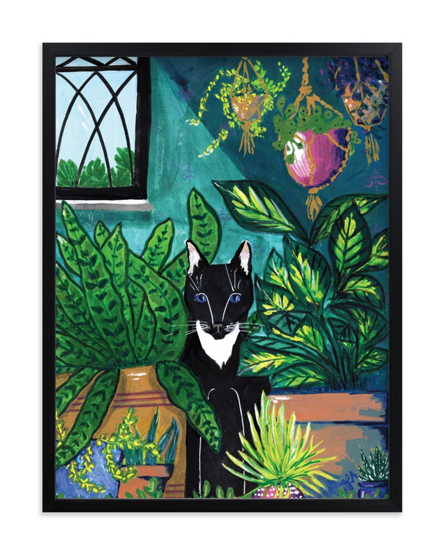 """""""Indoor Jungle"""" by Papernoten in beautiful frame options and a variety of sizes."""