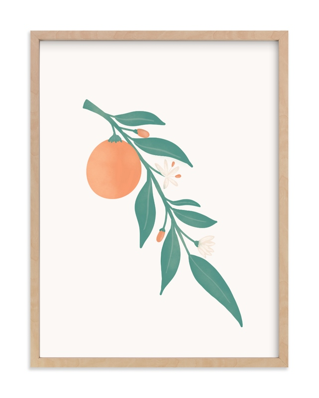 """""""Orange Branch"""" by Amanda Houston in beautiful frame options and a variety of sizes."""