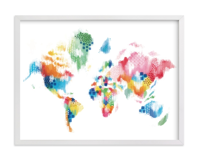 """Abstract World Map"" by Jessie Steury in beautiful frame options and a variety of sizes."