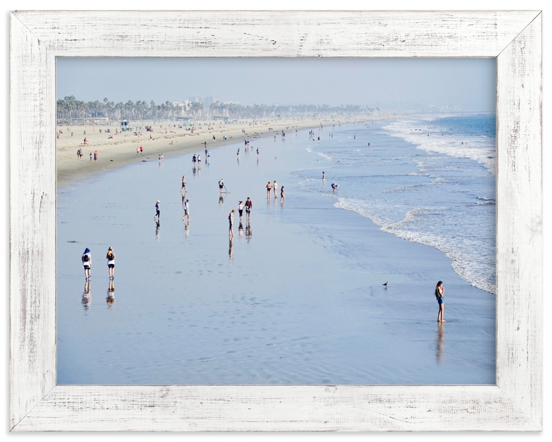 """""""Santa Monica Beach 4"""" by Jan Kessel in beautiful frame options and a variety of sizes."""