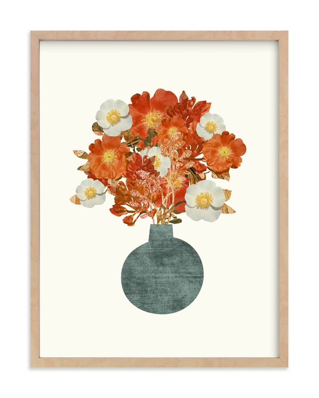 """Collage Bouquet"" by Field and Sky in beautiful frame options and a variety of sizes."