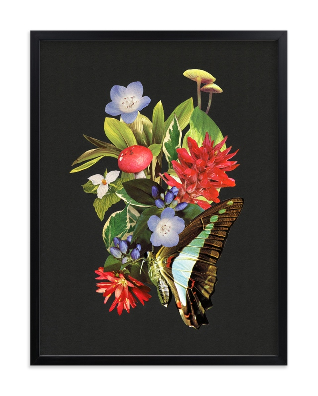 """Bloom in Red, Purple & Green"" by Field and Sky in beautiful frame options and a variety of sizes."