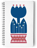 Nordic Blue Flower Notebook