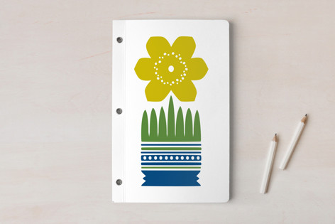 Nordic Yellow Flower Notebook Notebooks