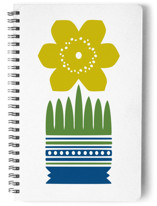 Nordic Yellow Flower Notebook